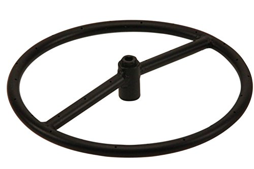 Hearth Products Controls (HPC Round Black Iron Fire Pit Burner (FR-12-NG), 12-Inch, Natural ()