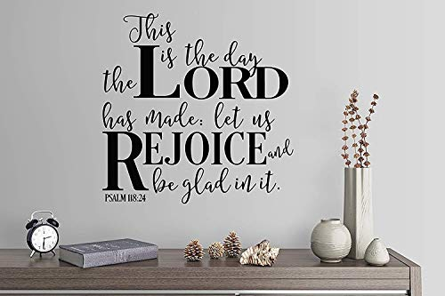 for Living Room This is The Day The Lord Has Made Let Us Rejoice and Be Glad in It Psalm Hymn Song Gospel for Boys Room Wall Decals Decor Vinyl Sticker Q6231