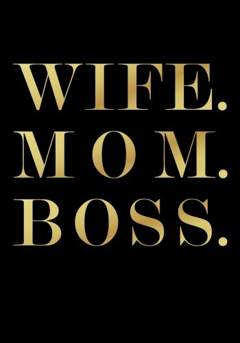 Download Wife. Mom. Boss. Undated Daily Planner (7 x 10 Inches): Empowerment Quote Cover Planner (Black & Gold) with To Do List, Goal Tracker, Habit Tracker with 2018 & 2019 Calendars Included pdf epub