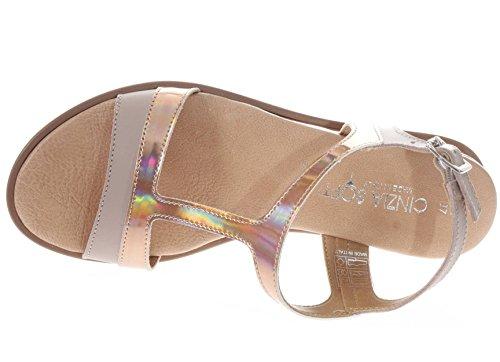 Pelle Zeppa Soft Sandalo Cinzia Rosa In Donna Uv1IxxqE