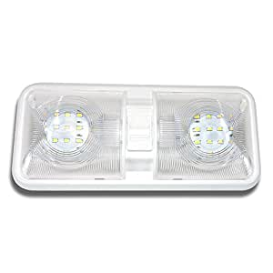 Rv Led Ceiling Double Dome Light Fixture With On Off Switch Interior Lighting For