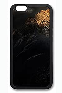 iPhone 6 Case - Dark Mountain Beautiful Scenery Pattern Rubber Black Case Cover Skin For iPhone 6 (4.7 inch)