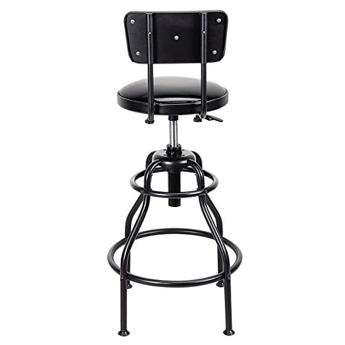 Adjustable Shop Stool with Backrest 275 lb Capacity by Pitt (Image #2)