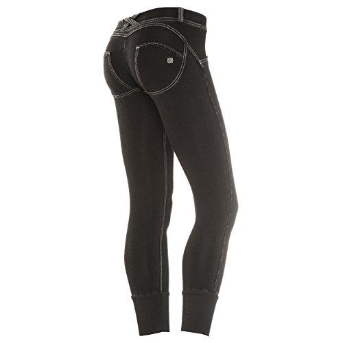 J3 y Wrup6dj3e Pantaloni Grigie Nero cuciture Jeans Donna Freddy 1fqpxOx