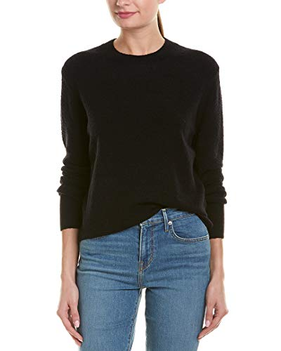 Vince Women's Wool Bouclé Pullover Black Small