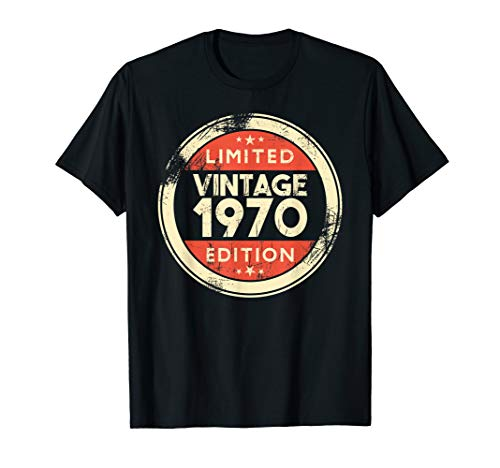 49 Years Old Gifts- 49th Birthday Gift Vintage 1970 T-Shirt (Birthday Present For 49 Year Old Man)