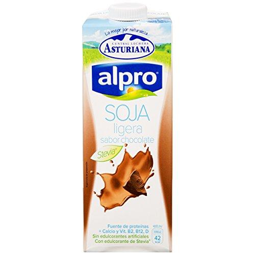 Alpro Central Lechera Asturiana Bebida de Soja Ligera Sabor Chocolate - Paquete de 6 x 1000 ml - Total: 6000 ml: Amazon.es: Alimentación y bebidas