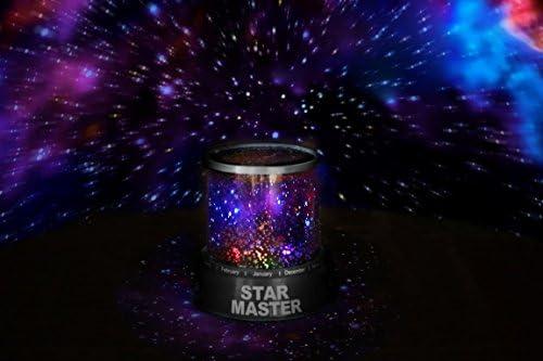 Lámpara led nocturna con proyector de estrellas (incluye pilas ...