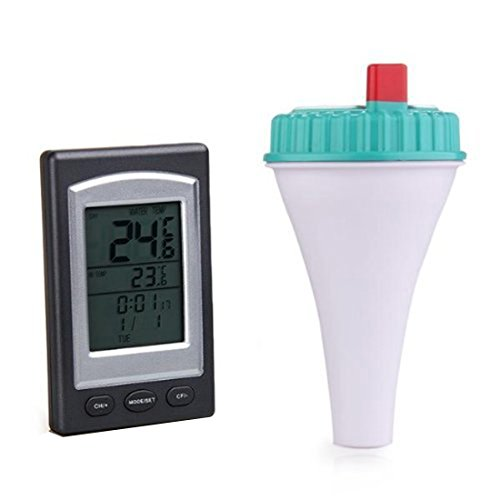 Sensor Funk Thermometer im Swimmingpool Spa LCD Display Schwimmdock Whirlpool
