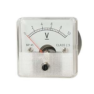 uxcell DC 0-10V Voltmeter Class 2.5 Analog Voltage Panel Meter