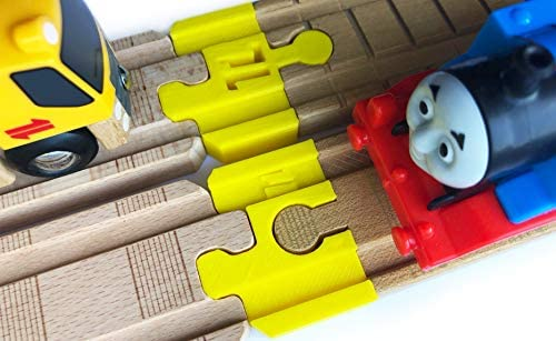 Thomas Wood 2018 Train Track Adapters to Wooden Railway for BRIO  & Doug 2pc (Yellow)