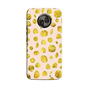 Cover It Up - Pink Gold pebbles Moto X4 Hard case
