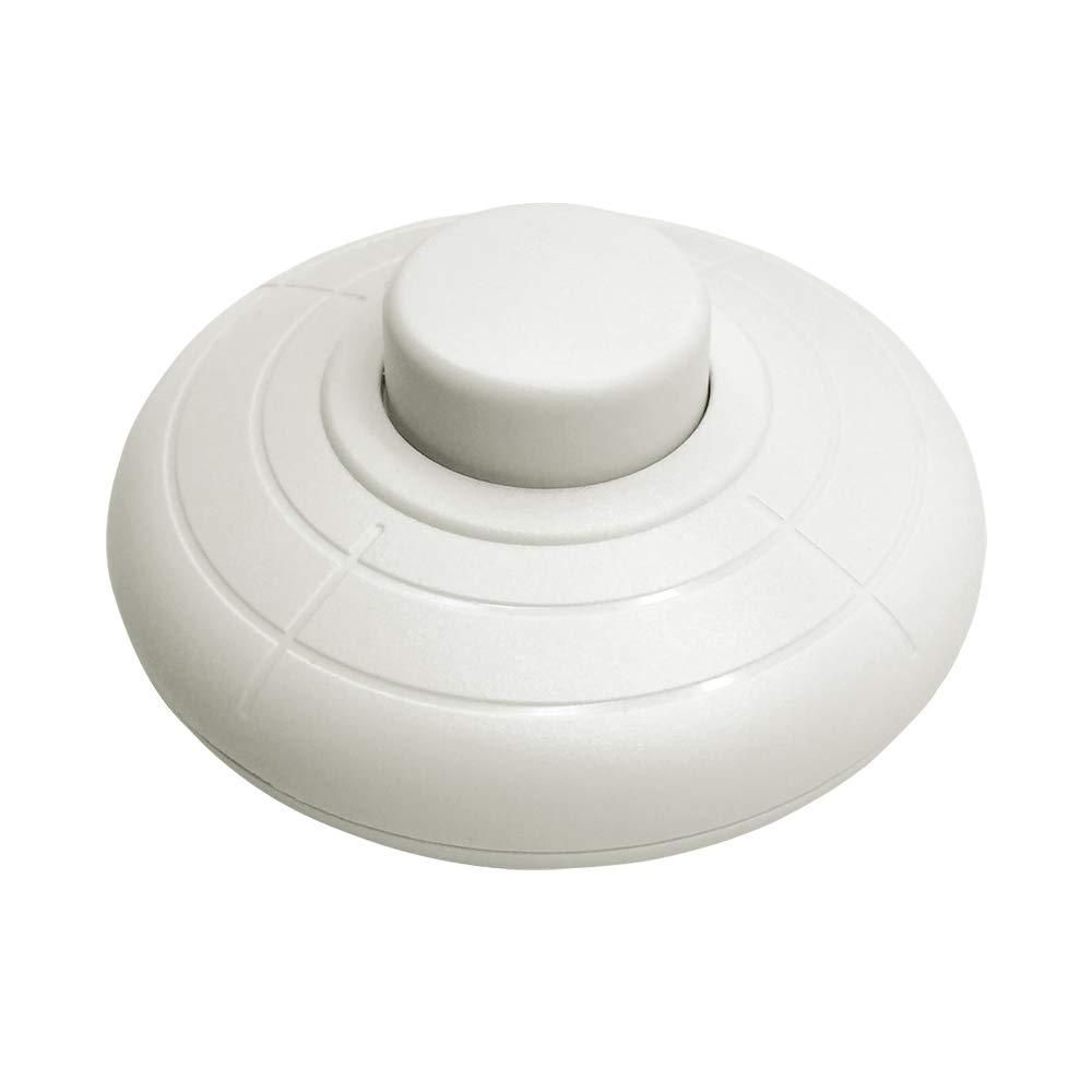 FUJIE 1 Pcs Interrupteur à pied rond Noir Interrupteur à commande au pied pour Lampadaire Et Lampe De Table