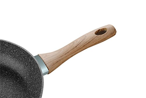 Cate-Maker 11 inches Frying Pan Stone/Granite Ceramic Non-Stick Coating (100% PFOA and APEO Free) Dishwasher Safe Induction Compatible Bottom