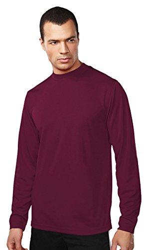 Tri Mountain Easy Care Polyester Turtleneck Shirt. 638,Dark Maroon,XX-Large