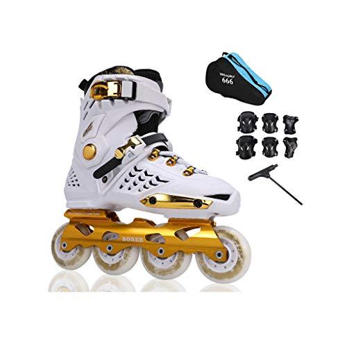 唇召喚するバラエティailj インラインスケート、スケート、大人の男の子、女の子セットのローラースケート、プロの多目的スケート(3色) (色 : 黒, サイズ さいず : EU 43/US 10/UK 9/JP 26.5cm)