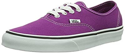 Vans Authentic Skate Shoe - Women's Wild Aster/True White, Mens 4.5/Womens 6.0