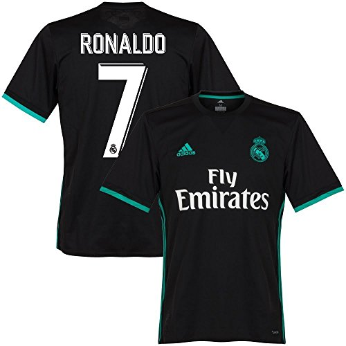 adidas Real Madrid Away KIDS Ronaldo Jersey 2017/2018 (Official Printing) - XL/176cm