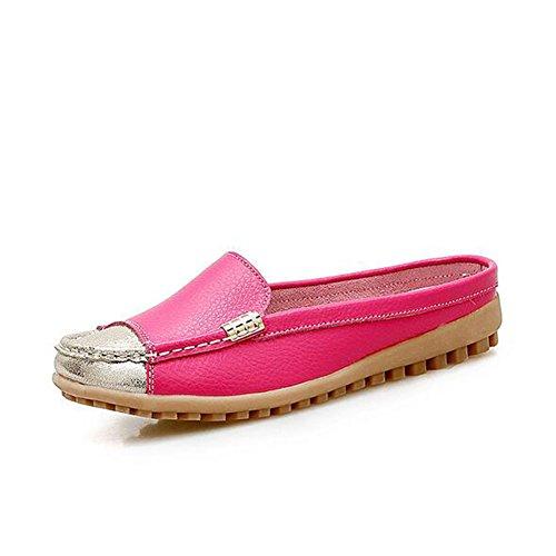 Zapatos Ocasionales de Las Mujeres Zapatos de Las Mujeres de Gran Tamaño Juegos Respirables de Zapatillas de los pies Zapatos de Cuero de Las Mujeres de Las Mujeres (Color : Rosado, Tamaño : 35) Rosado