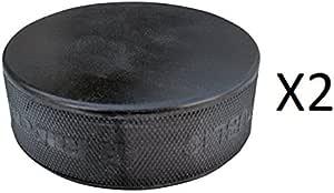 A/&R Ice Hockey Puck Black Practice Hard Vulcanized Rubber Lightweight 4-Pack