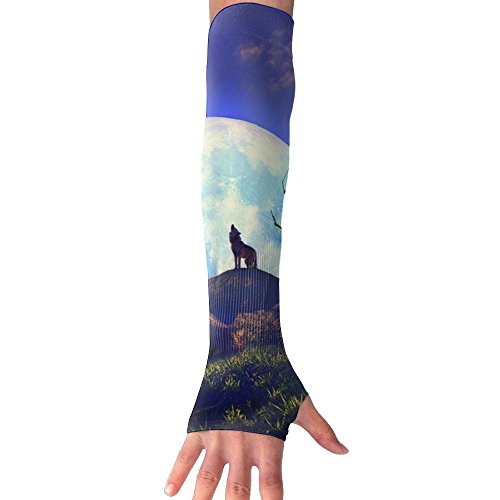 Super Full Moon Wolf Sun Protection Armgards Fashion Arm Sleeve