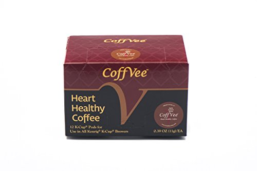 CoffVee K-Cups (Dark French Roast Coffee)- Infused with heart healthy resveratrol- 12-count K-Cups