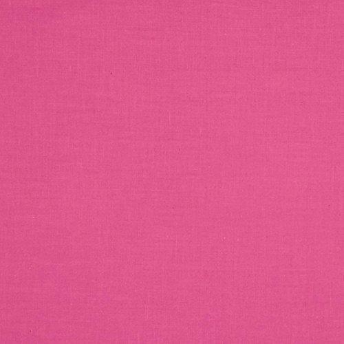 Robert Kaufman Kona Cotton Pink Sassy Fabric by The Yard (Pink Kona Cotton Fabric)