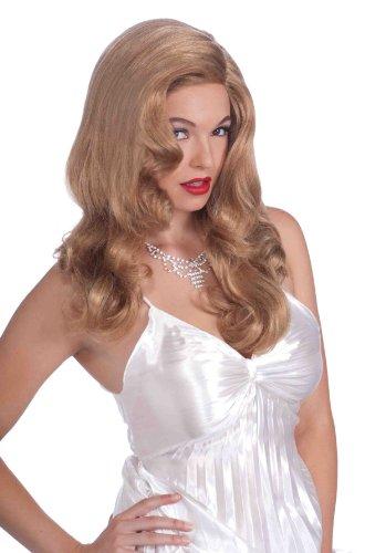 Forum Women Vintage Hollywood Cinema Siren Wig, Dirty Blond, One Size 16