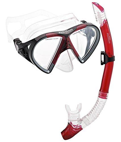 Phantom Aquatics Mexico Mask Dry Snorkel Set, (Mexico Mask)