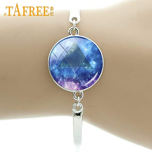 - Chain & Link Bracelets - Trendy Fashion Rotating Universe Dreamlike Starry Night Star Art Picture Bracelet Glass Cabochon Women Gift Jewelry ZY206 - by Mct12-1 PCs