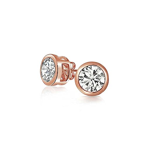 ose Gold Plating Sterling Silver Stud Earrings 5mm ()
