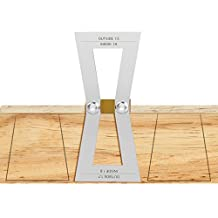 Dovetail Marker, Housolution Hand Cut Wood Joints Gauge Dovetail Guide Tool, Dovetail Template Size 1:5-1:6 and 1:7-1:8 for Woodworking - Silver