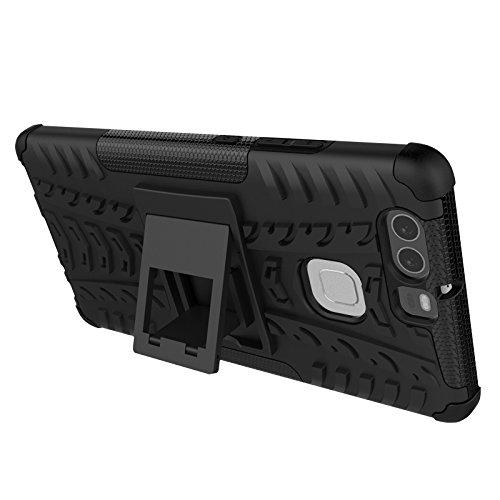 YAJIE-Carcasa Funda Para Huawei P9, nueva carcasa de doble armadura híbrida desmontable [Kickstand] 2 en 1 resistente a prueba de golpes cubierta de la caja ( Color : Pink ) Orange