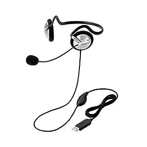 エレコム ヘッドセット マイク PS4対応 USB 両耳 ネックバンド 1.8m HS-NB05USV