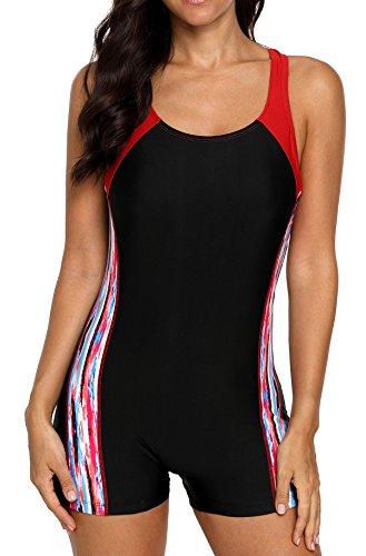 BeautyIn Full Linning One Piece Swimwear for Womens Padded Bathing Suit Swimsuit XL by beautyin