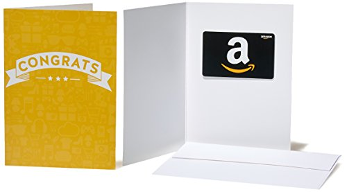 Amazon.com Gift Card in a Greeting Card (Congratulations Icons Design)