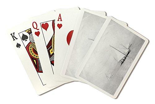 Astoria, Oregon Annual Regatta Sailing Photograph (Playing Card Deck - 52 Card Poker Size with (Annual Poker)