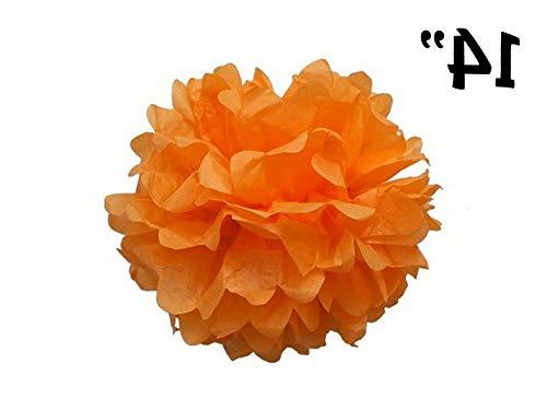 Mikash 12 pcs 14 POM POM Balls Wedding Party Centerpieces Decorations Wholesale | Model WDDNGDCRTN - 8529 |