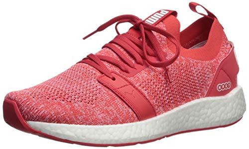 (PUMA Women's NRGY Neko Engineer Knit Sneaker Hibiscus White, 11 M US)