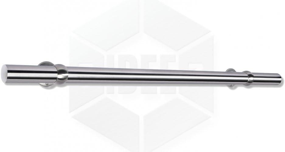HandlaufBola /Ø42,4x2mm aus rostfreiem Edelstahl geschliffen K240 frei konfigurierbar Gr/ö/ße 1300 mm