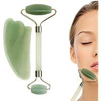 YiFi-Tek Jade Roller & Gua Sha Massage Tool Set ( Green )