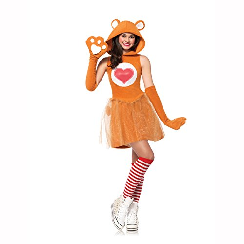 Leg Avenue Junior's Care Bears 2 Piece Tenderheart Bear Costume, Tan, Medium/Large -