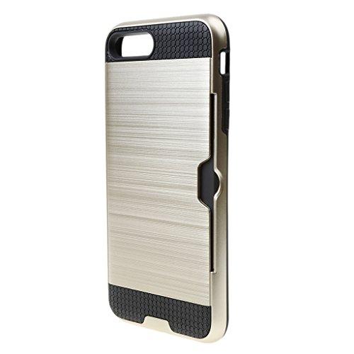 MagiDeal Caja de TeléfonoDiiseño de Cáscara duro de Alta Resistencia Protector Para IPhone7 Plus de Plàstico - Oro Oro