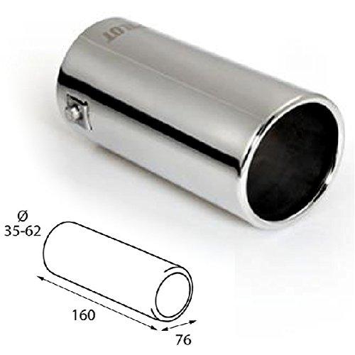 703732 Tuning-Pro Auspuffblende BLACK-LINE rund f/ür Auspuff-Durchmesser 45-76 mm