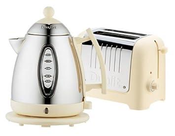 Dualit Lite Cream 2 Slice Toaster & Kettle Breakfast Pack Amazon