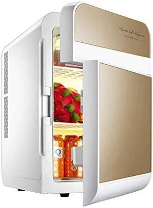 ポータブル冷凍庫カー冷蔵庫、カーホームデュアルコアデュアルオープン冷蔵庫、20L 12V DC 220V AC冷却カー冷蔵庫ミニ冷蔵庫小さな家マイクロ冷蔵庫自動デュアル使用