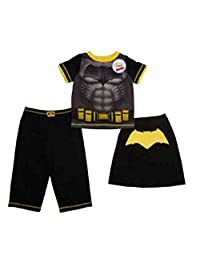 Komar Kids Boys' Super Hero Variety Pajama Sets (7, Batman 3 Piece)