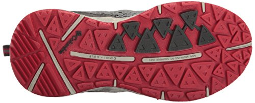 Columbia Youth Drainmaker Iii - Zapatillas de running Niños Gris (Grey Ash, Mountain Red 021)