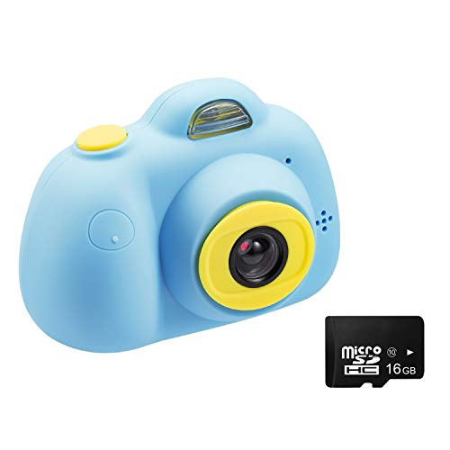 Abdtech 8MP Camera for Kids, Toy Kid Video Cameras HD Mini Digital Cam for Boys Girls, Compact Children Camcorders with 16GB Memory Card Creative Birthday for 4-10 Year Old Girl Boy