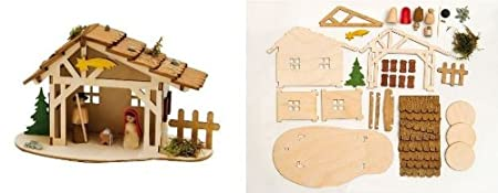 Do it yourself christmas nativity stable wooden german kit amazon do it yourself christmas nativity stable wooden german kit solutioingenieria Choice Image